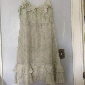 Print Green Dress
